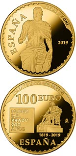 100 euro coin Bicentenary of the Museum del Prado - Carlos V | Spain 2019