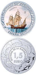 1.5 euro coin Caravel | Spain 2019