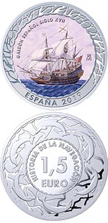 1.5 euro coin 17th Century Galleon | Spain 2019