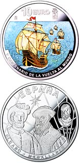 10 euro coin 1st Round-The-World Voyage | Spain 2019