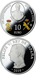 10 euro coin 175th Anniversary Civil Guard | Spain 2019