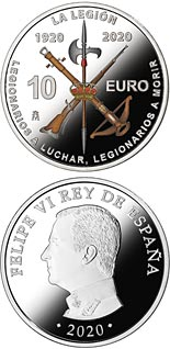 10 euro coin 100th Anniversary of Spanish Legion | Spain 2020