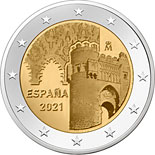 2 euro coin Historic City of Toledo | Spain 2021