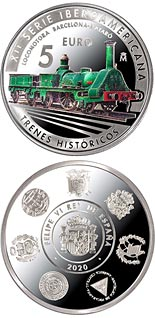5 euro coin 12th Ibero-american Series: Historic Railways | Spain 2020