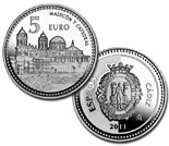5 euro coin Cádiz  | Spain 2011