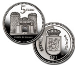 5 euro coin Badajoz  | Spain 2011