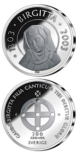 200 krona 700th anniversary of the birth of Saint Birgitta - 2003 - Series: Silver coins - Sweden