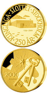 2000 krona 250th anniversary of Royal Palace in Stockholm - 2004 - Series: Gold coins - Sweden