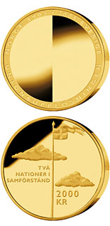 2000 krona 100th anniversary of the dissolution of the Swedish-Norwegian union - 2005 - Series: Gold coins - Sweden
