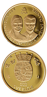 4000 krona The wedding of Crown Princess Victoria and Daniel Westling on 19 June 2010 - 2010 - Series: Gold coins - Sweden