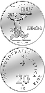 20 francs The 80 years of Globi - 2012 - Series: Silver 20 francs coins - Switzerland