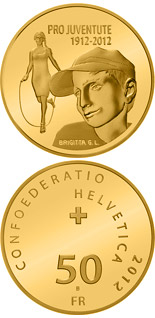 50 franc coin 100 years of Pro Juventute | Switzerland 2012