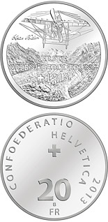 20 franc coin First transalpine flight 1913 | Switzerland 2013