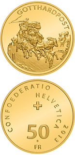 50 francs Gotthard Mail Coach - 2013 - Series: Gold franc coins - Switzerland