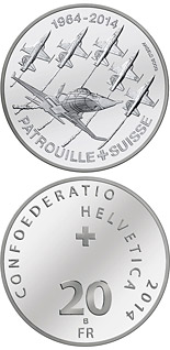 20 francs 50 years of Patrouille Suisse - 2014 - Series: Silver 20 francs coins - Switzerland