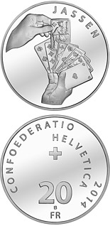 20 francs National sports: The Jass Card Game - 2014 - Series: Silver 20 francs coins - Switzerland