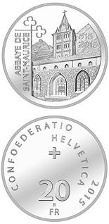 20 francs 1500 Years St. Maurice's Abbey  - 2015 - Series: Silver 20 francs coins - Switzerland