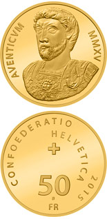 50 francs 2000 years of Aventicum - 2015 - Series: Gold franc coins - Switzerland