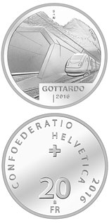 20 francs Gottardo - 2016 - Series: Silver 20 francs coins - Switzerland