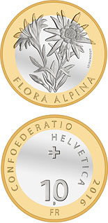 10 franc coin Alpine Edelweiss | Switzerland 2016