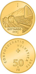 50 francs Gottardo - 2016 - Series: Gold franc coins - Switzerland