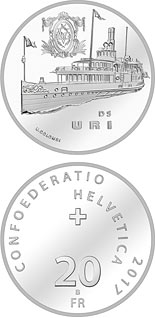 20 francs Steamboat Uri  - 2017 - Series: Silver 20 francs coins - Switzerland