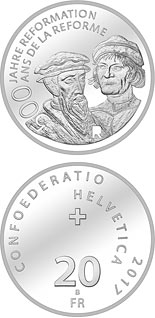 20 francs 500 Years of Reformation  - 2017 - Series: Silver 20 francs coins - Switzerland
