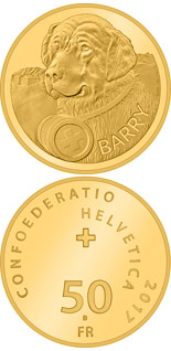 50 francs Barry - 2017 - Series: Gold franc coins - Switzerland