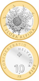 10 franc coin Carline thistle | Switzerland 2018