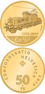 50 franc coin 100th anniversary of the Crocodile locomotive | Switzerland 2019