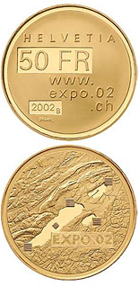 50 francs Expo.02  - 2002 - Series: Gold franc coins - Switzerland