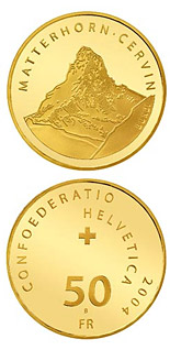 50 francs Matterhorn - 2004 - Series: Gold franc coins - Switzerland