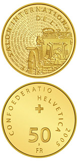 50 francs 100th anniversary of the Geneva Motor Show Gold - 2005 - Series: Gold franc coins - Switzerland