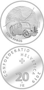 20 franc coin Furka Pass | Switzerland 2019