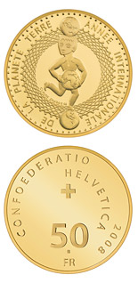 50 francs International Year of Planet Earth - 2008 - Series: Gold franc coins - Switzerland