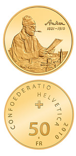 50 franc coin Centenary of Albert Anker's death | Switzerland 2010