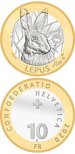10 franc coin Hare | Switzerland 2020