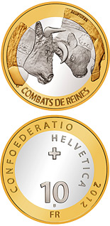 10 franc coin Cow fighting | Switzerland 2012
