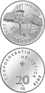 20 franc coin 100 years of Jungfrau Railway | Switzerland 2012