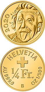 0.25 franc coin Smallest gold coin in the world | Switzerland 2020