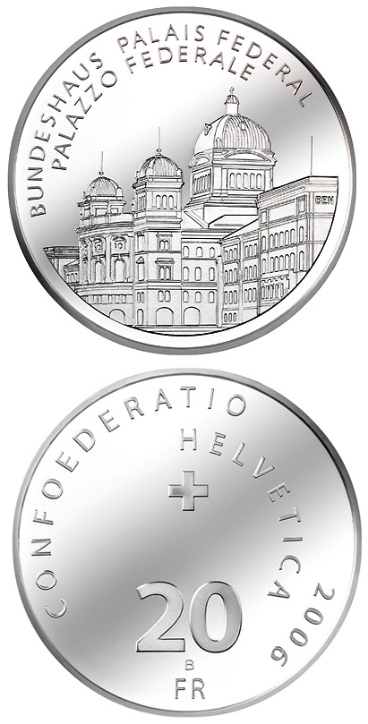 Image of a coin 20 francs | Switzerland | The Parliament building | 2006