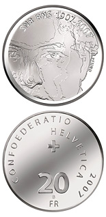 20 franc coin 100 years of the Swiss National Bank | Switzerland 2007