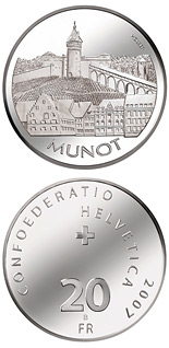 20 francs Munot Schaffhausen - 2007 - Series: Silver 20 francs coins - Switzerland
