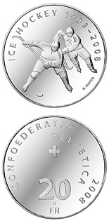 20 francs Ice hockey Centenary - 2008 - Series: Silver 20 francs coins - Switzerland