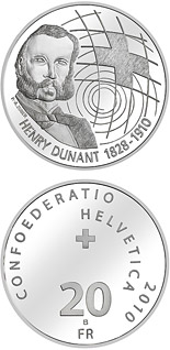 20 franc coin Centenary of Henry Dunant's death | Switzerland 2010