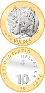 10 franc coin Fox | Switzerland 2021