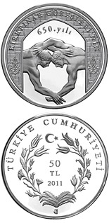 50 Lira 650 years of the Oil Wrestling (yağlı güreş) - 2011 - Series: Silver 50 Lira coins - Turkey