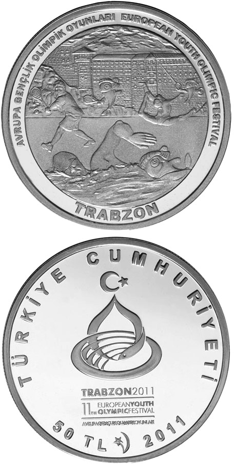 Image of a coin 50 Lira | Turkey | European Youth Olympic Festival 2011 – Trabzon | 2011