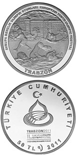 50 Lira European Youth Olympic Festival 2011 – Trabzon - 2011 - Series: Silver 50 Lira coins - Turkey