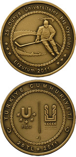 20 Lira coin XXV. World University Winter Games in Erzurum – Hockey | Turkey 2011